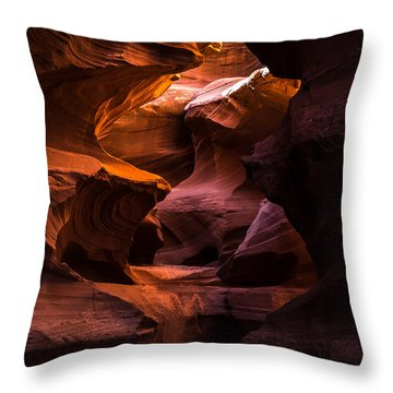 Slot Canyon Red Throw Pillow