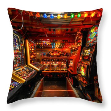 Slot Machines Throw Pillow