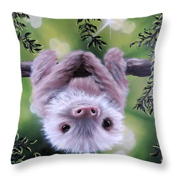 Sloth'n 'around Throw Pillow