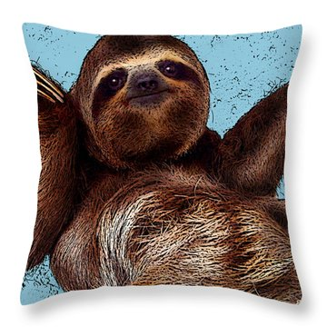Sloth Pop Art Throw Pillow