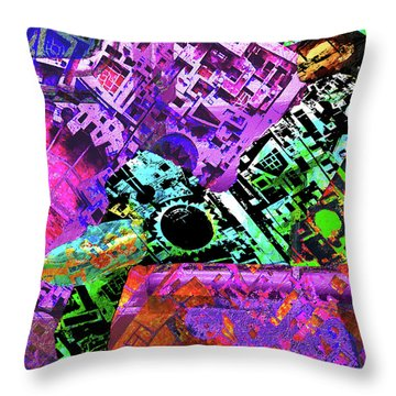 Throw Pillow featuring the mixed media Slouch by Tony Rubino