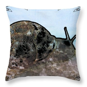 Throw Pillow featuring the photograph Slow by Beauty For God