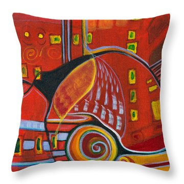 Slow Down Throw Pillow by Leela Payne