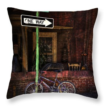 Slow Down On The Race Street Throw Pillow