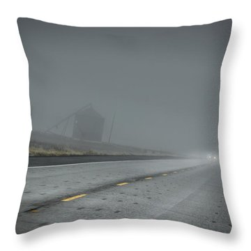 Slow Drive Home Throw Pillow