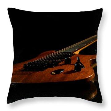 Slow-hand-guitar Throw Pillow