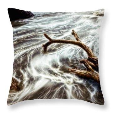 Slow Motion Sea Throw Pillow