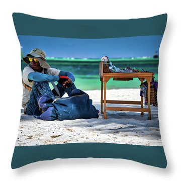 Slow Sales Day Throw Pillow