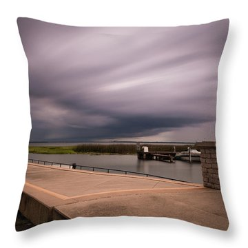 Slow Summer Storm Throw Pillow