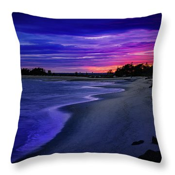 Slow Waves Erupting Clouds Throw Pillow