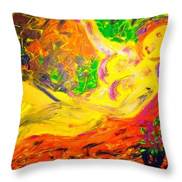 Throw Pillow featuring the painting Slumber by Piety Dsilva