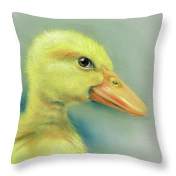 Sly Little Duckling Throw Pillow