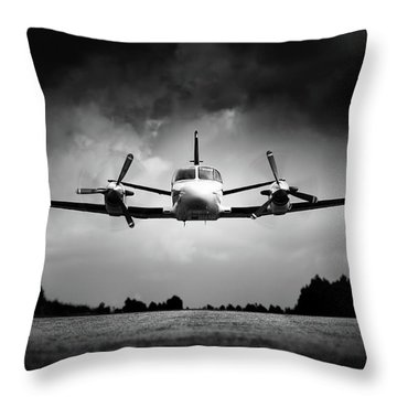 Small Airplane Low Flyby Throw Pillow