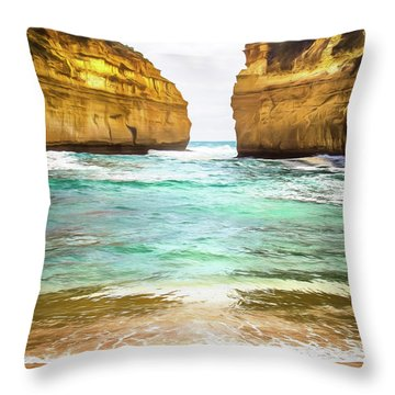 Throw Pillow featuring the photograph Small Bay by Perry Webster