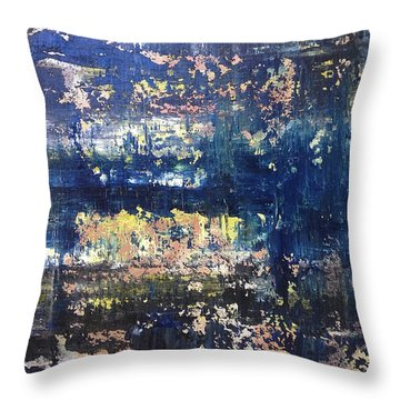 Small Blue Throw Pillow