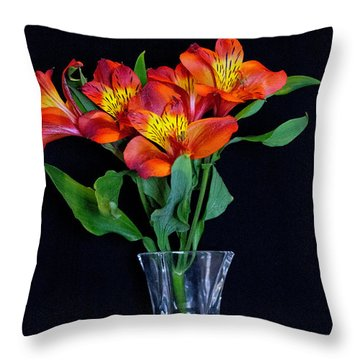 Small Bouquet Of Flowers Throw Pillow