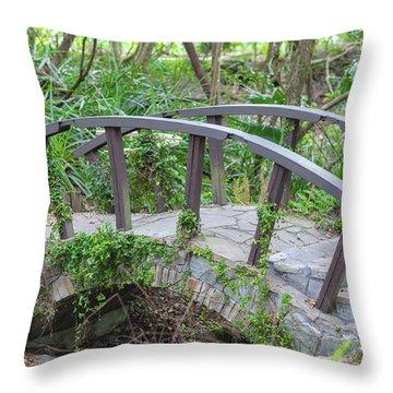 Small Brown Bridge Throw Pillow