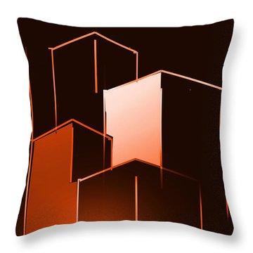 Small Buildings Throw Pillow by John Krakora
