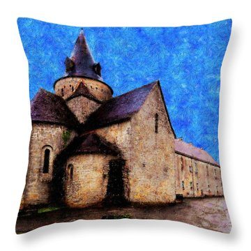 Small Church 1 Throw Pillow by Jean Bernard Roussilhe