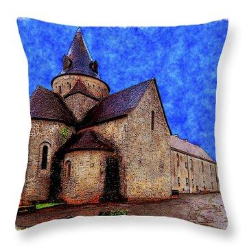 Small Church 2 Throw Pillow by Jean Bernard Roussilhe