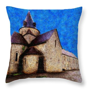 Small Church 4 Throw Pillow by Jean Bernard Roussilhe