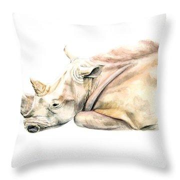 Small Colour Rhino Throw Pillow