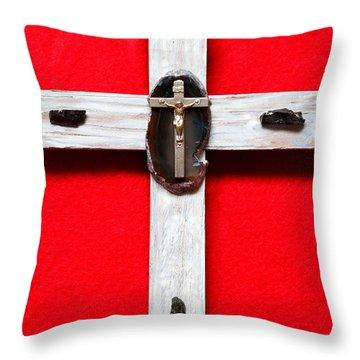 Small Cross Vi Throw Pillow by M Diane Bonaparte