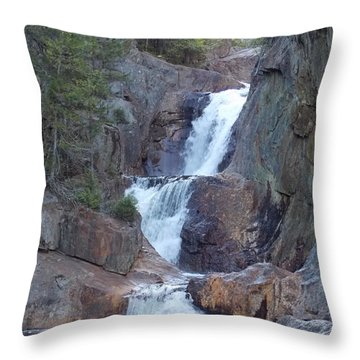 Small Falls In Madrid Maine Throw Pillow