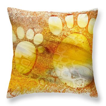 Small Feet And Big Feet 14 Throw Pillow