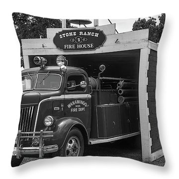Small Fire House Throw Pillow
