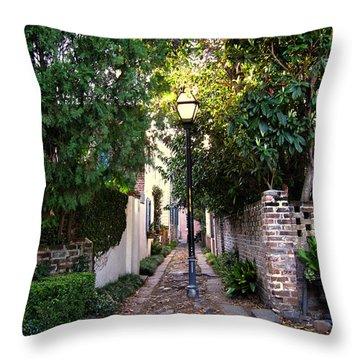 Small Lane In Charleston Throw Pillow by Susanne Van Hulst