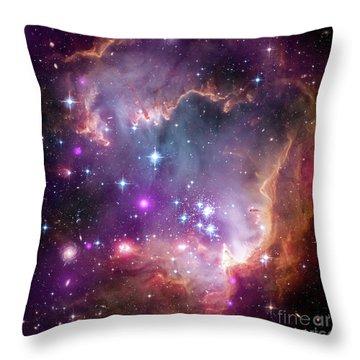 Small Magellanic Cloud, Smc, Nebula, Galaxy, Space Exploration Throw Pillow