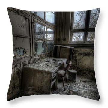 Throw Pillow featuring the digital art Small Office by Nathan Wright