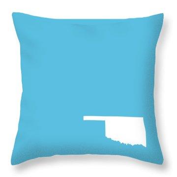 Small Oklahoma In White Throw Pillow