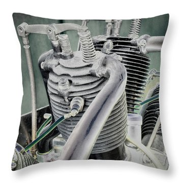 Small Radial Engine Throw Pillow