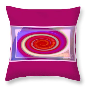 Small Red Swirl Throw Pillow