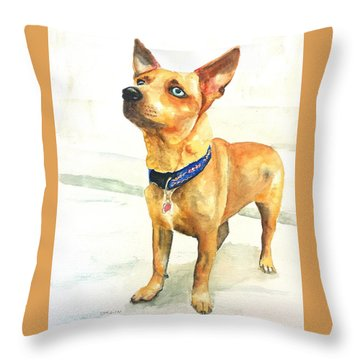 Small Short Hair Brown Dog Throw Pillow