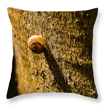 Small Snail On The Tree Throw Pillow