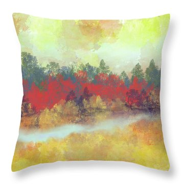 Small Spring Throw Pillow by Jessica Wright