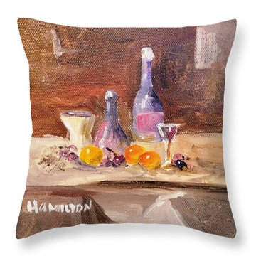 Small Still Life Throw Pillow