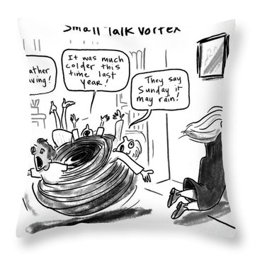 Small Talk Vortex Throw Pillow