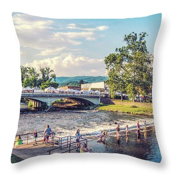 Small Town America Throw Pillow