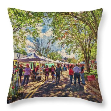 Throw Pillow featuring the photograph Small Town Festival by Lewis Mann