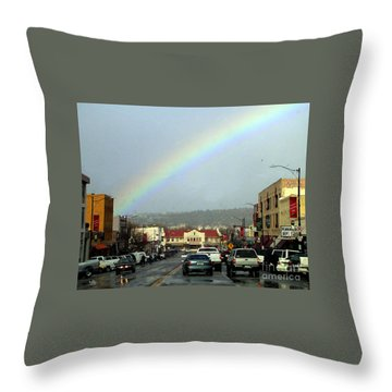 Throw Pillow featuring the photograph Small Town Living by Beauty For God