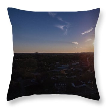 Small Town Sun Throw Pillow