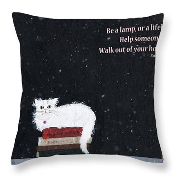 Small Town Wall Art Throw Pillow by Rhonda McDougall