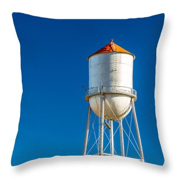 Small Town Water Tower Throw Pillow