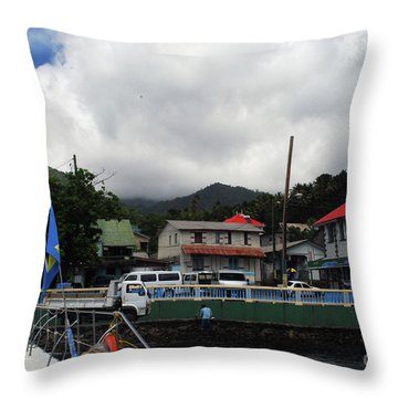 Throw Pillow featuring the photograph Small Village by Gary Wonning