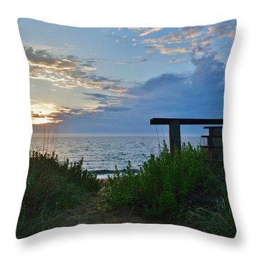 Small World Sunrise   Throw Pillow