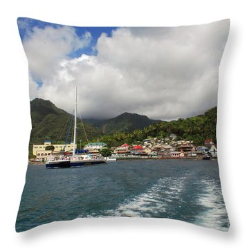 Smalll Village Throw Pillow by Gary Wonning